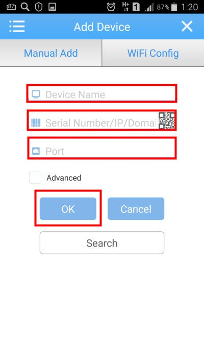 добавление устройства по ip