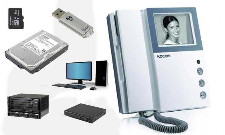 Типы запоминающих устройств для видеодомофонов