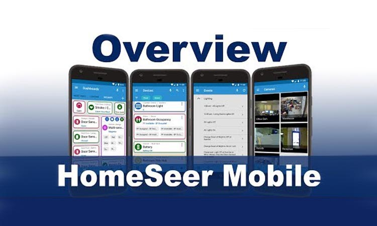 HomeSeer Mobile - приложение для видеонаблюдения. Видеомануал. Скачать