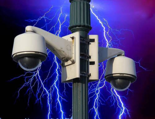 Защита систем видеонаблюдения от разрядов молнии