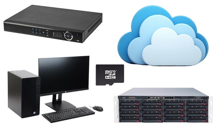 Способы и устройства записи видео систем наблюдения