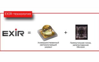 Новая технология EXIR для систем видеонаблюдения