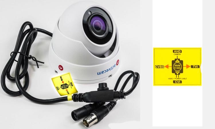 Способы переключения AHD камер в обычный аналоговый режим
