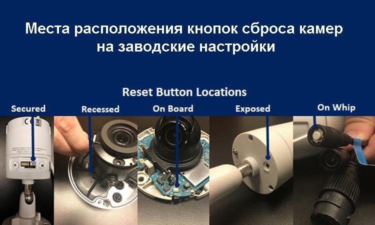 Способы сброса IP-камер на заводские параметры
