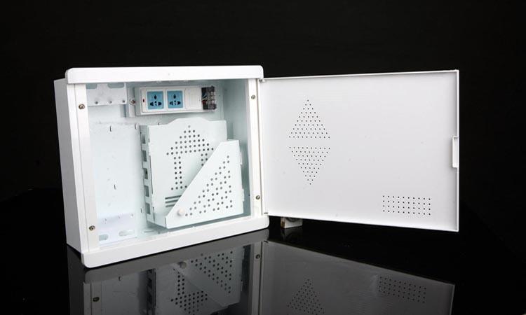 Расключение проводов системы видеонаблюдения в слаботочном шкафу
