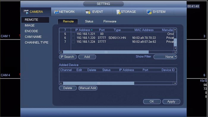 Как подключить видеокамеры Hikvision к видеорегистратору Dahua?