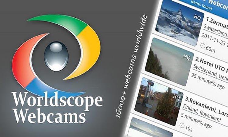 Worldscope Webcams - приложение для видеонаблюдения. Видеомануал. Скачать