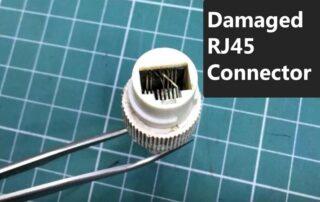 Как исправить поврежденный разъем RJ45 IP-камеры?